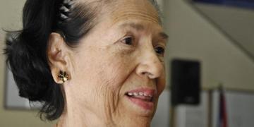 La histórica revolucionaria y pedagoga cubana Asela de los Santos, fallecida en La Habana a los 90 años, el 23 de enero de 2020. Foto: Granma / Archivo.