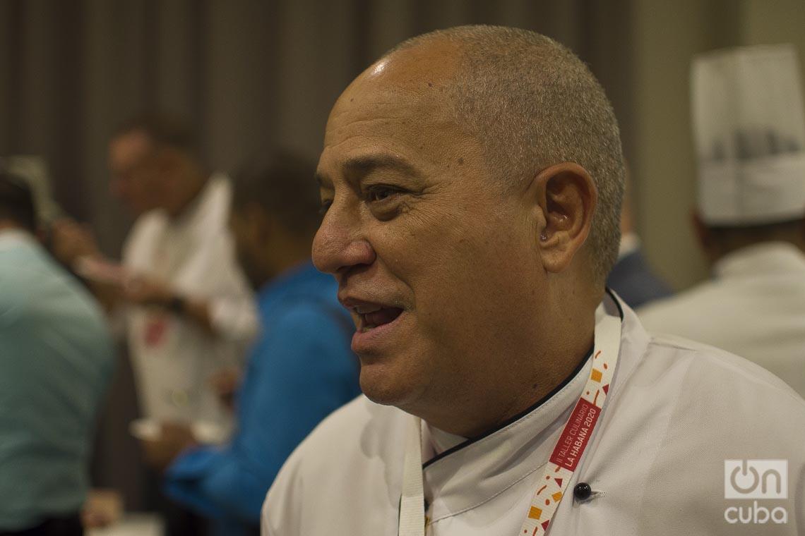 Chef Eddy Fernández, presidente de la Asociación Culinaria de Cuba. Foto: Otmaro Rodríguez.
