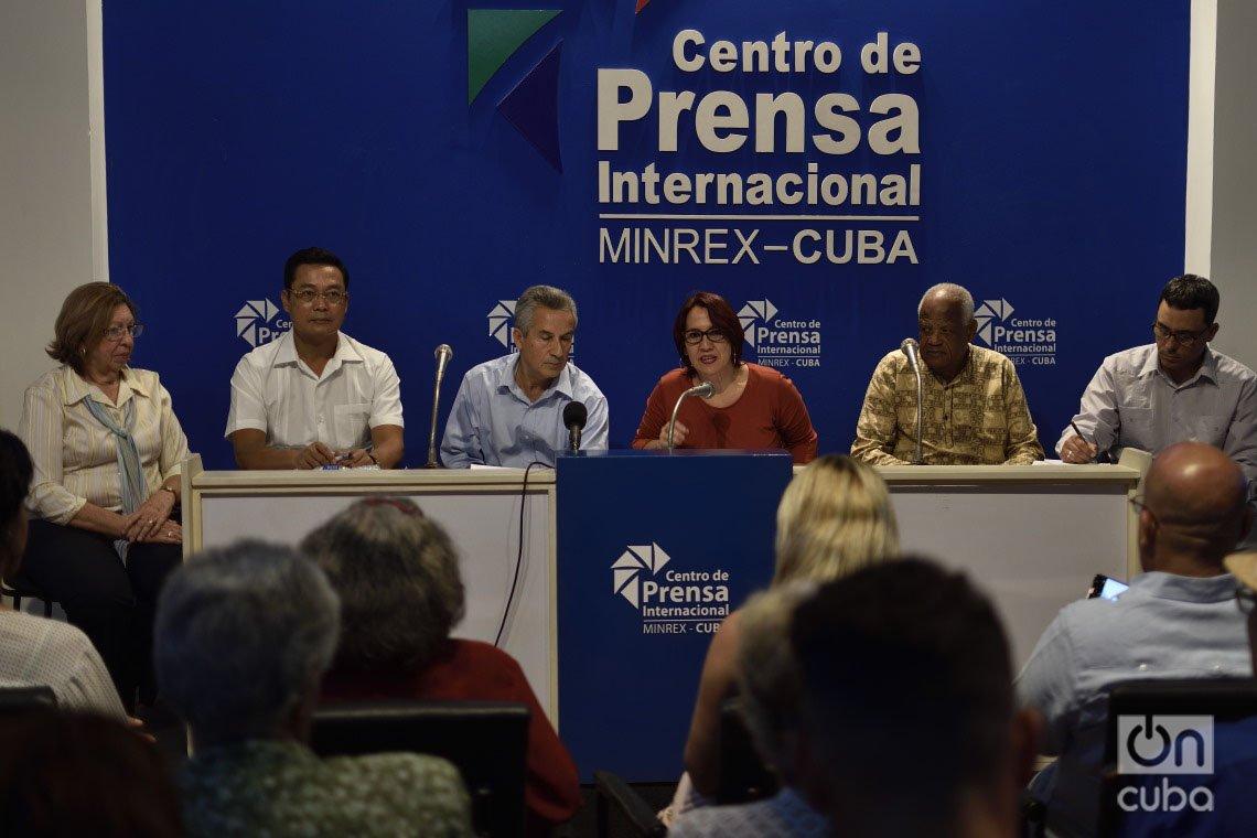 Conferencia de prensa sobre la 29 Feria Internacional del Libro de La Habana, el 20 de enero de 2020. Foto: Otmaro Rodríguez.