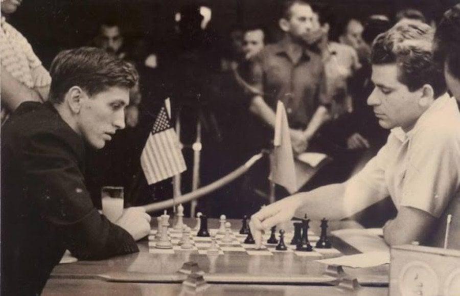 Bobby Fischer contra Boris Spassky, en La Habana, 1966.