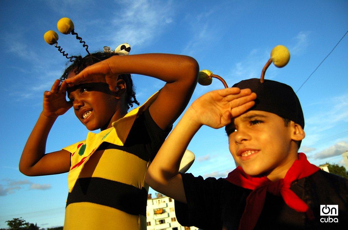 Integrantes de La Colmenita en Santiago de Cuba. Foto: Kaloian.