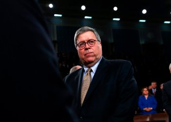 El secretario de Justicia de EEUU, William Barr. Foto: Leah Millis/Pool via AP.