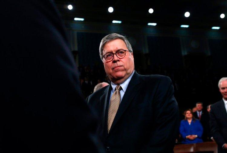 El secretario de Justicia de EEUU, William Barr. Foto: Leah Millis/Pool via AP.