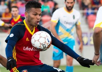 Maikel Chang, mediocampista de los Real Monarchs. Foto: The Salt Lake Tribune.