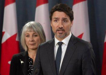El primer ministro canadiense Justin Trudeau en una conferencia de prensa en Ottawa, el 11 de marzo de 2020. Foto: Adrian Wyld/The Canadian Press vía AP/Archivo.