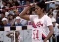La lanzadora cubana de jabalina, María Caridad Colón. Foto: telemundodeportes.com