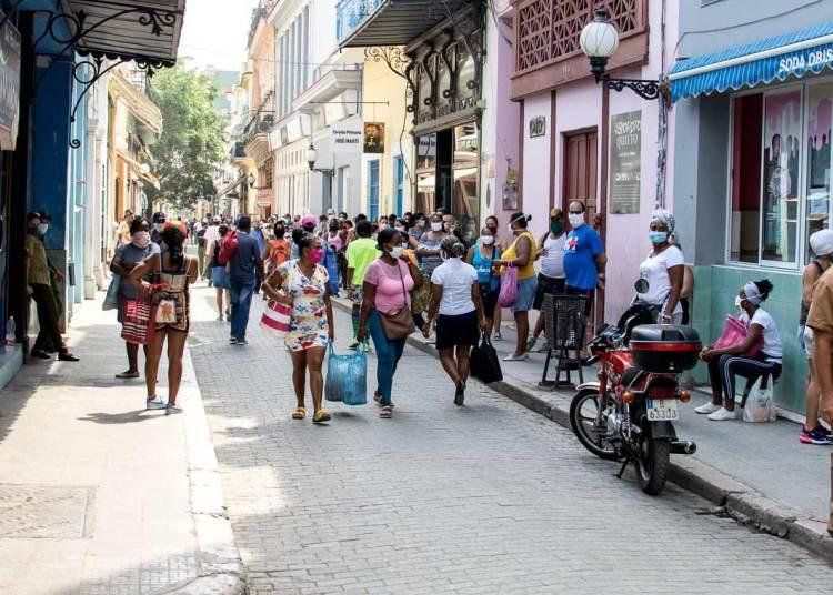 La Calle Obispo durante el coronavirus. Foto: Otmaro Rodríguez.