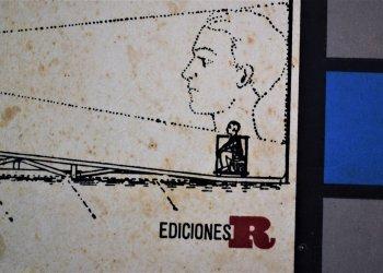 Detalle de la cubierta del libro Un oficio del siglo veinte, de Guillermo Cabrera Infante. Diseño de Raúl Martínez, dibujos de Sergio y Raúl Martínez
