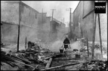 CHINA. Hubei. Hankou. July-September, 1938. After a Japanese air raid.