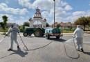 Voluntarios recorrieron el pasado sábado Gines con sus tractores para ampliar las tareas de desinfección al fin de semana