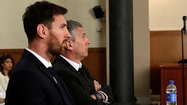Lionel Messi y su padre.