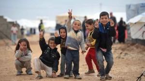 Niños refugiados - Guerra de Siria