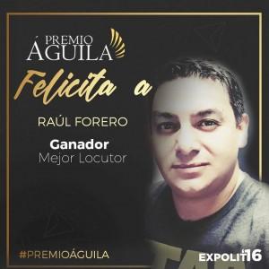 6.Mejor Locutor Raúl Forero – La Nueva 88.3 FM Florida – EE.UU