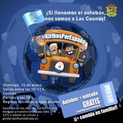 El Fuenla pone un autobús gratis para viajar a Logroño