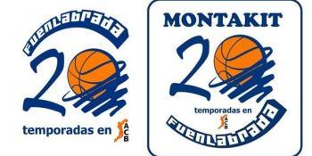 Escudo conmemorativo y camisetas retro del Montakit Fuenlabrada