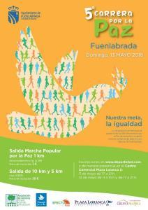 Quinta edición de la solidaria Carrera por la Paz de Fuenlabrada