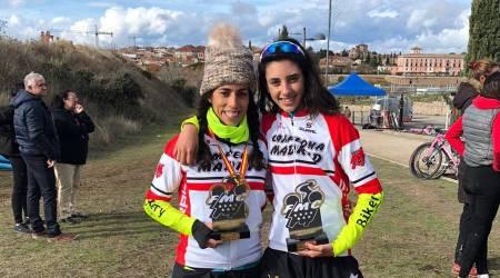 Dos fuenlabreñas campeonas de Madrid en ciclocross