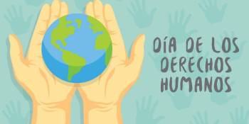 250 escolares de Fuenlabrada participan en un acto en defensa de los Derechos Humanos