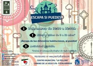 'Escapa si puedes' en el Centro Municipal La Pollina