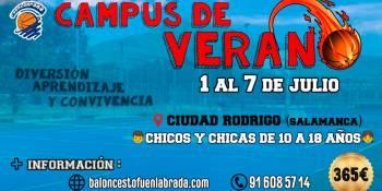 Campus de Verano del Montakit Fuenlabrada en Ciudad Rodrigo