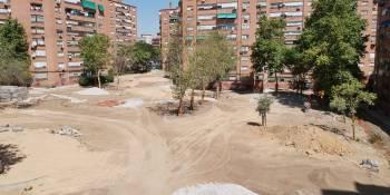 Se llevan a cabo las obras de la Plaza de Saconia
