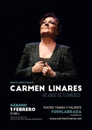 Carmen Linares estrena su nuevo espectáculo en Fuenlabrada