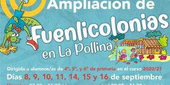Las Fuenlicolonias amplían su oferta debido al retraso en el curso escolar