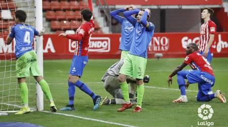 Un Fuenla sin gol cae ante el Sporting a pesar del buen partido