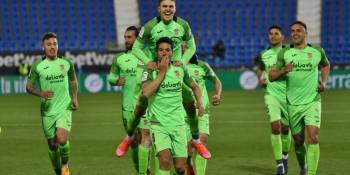 Cristóbal llevó al CF Fuenlabrada al mejor partido de la temporada