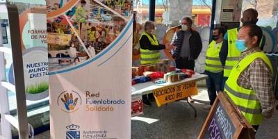 La última campaña de la Red Solidaria de Fuenlabrada recoge 4.500 kilos de productos de primera necesidad