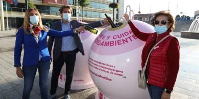 Campaña Recicla vidrio por ellas con motivo del Día Mundial contra el Cáncer de Mama