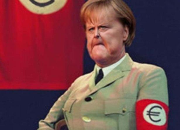 nazi-merkel-ape