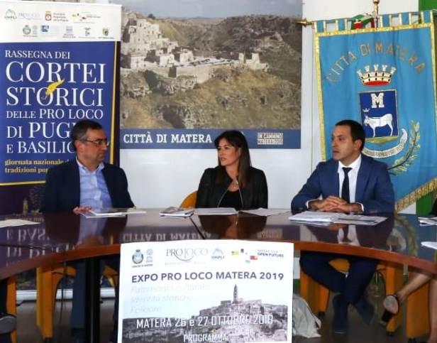 I Presidenti Unpli Puglia Rocco Lauciello e Unpli Basilicata Rocco Franciosa con Assessore del Comune di Matera Liantonio