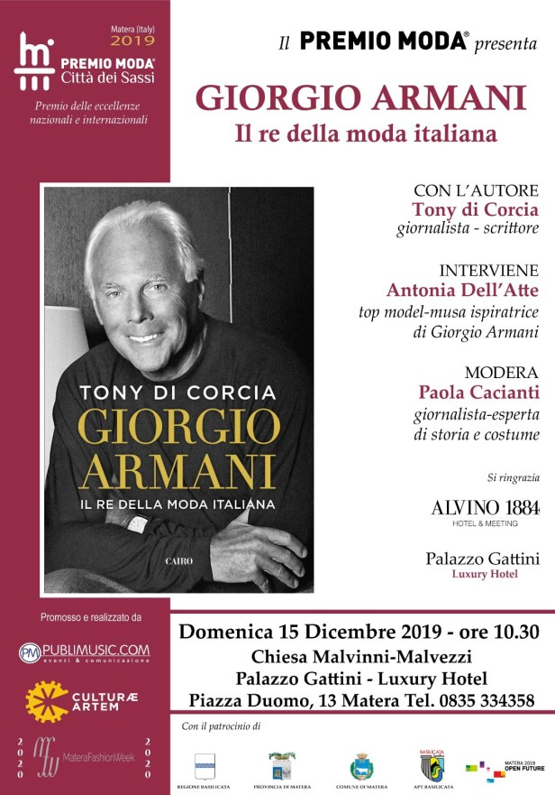 Locandina libro - Giorgio Armani il re della moda italiana