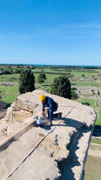 Installazione sensori al Tempio di Nettuno