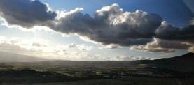 Panorama della Fiumara di Atella (pz) in direzione del comune di Ripacandida.