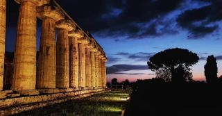 Paestum by night