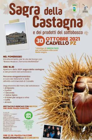 30 ottobre Calvello (Pz)