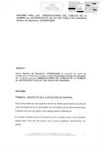 Informe del Cabildo de La Gomera. (F/ Ssp La Gomera)