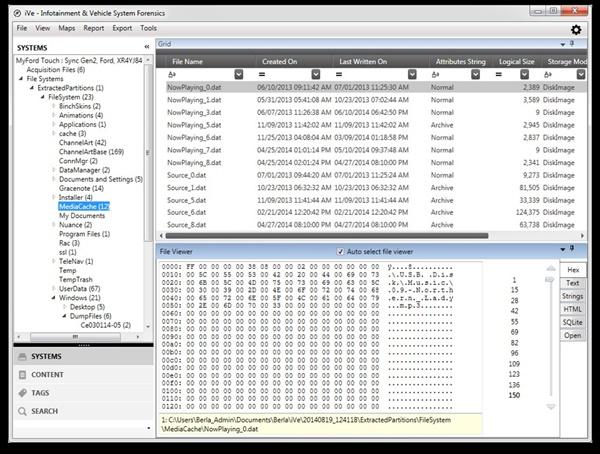 Interfaz de iVe, archivos