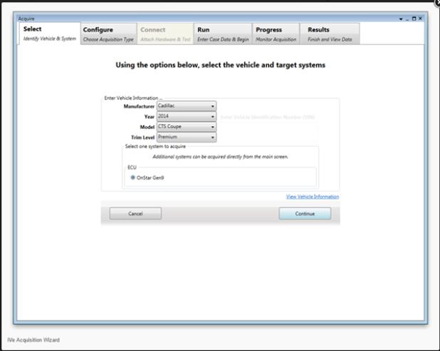 Interfaz de configuración de iVe