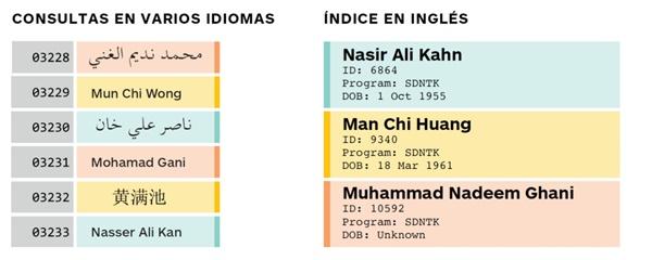 Gráfico de consultas de idiomas con RNI