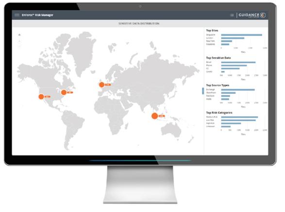 Sensitive data distribution with EnForce Risk Manager