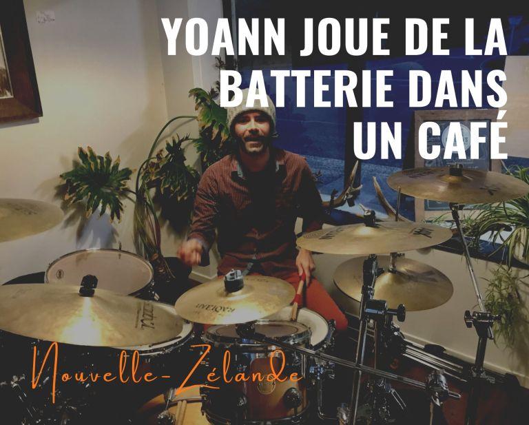 Yoann joue de la batterie en Nouvelle-Zélande !