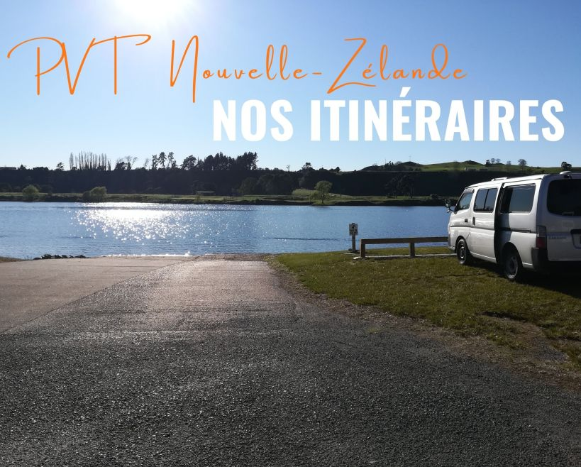 van garé devant un lac nouvelle-zélande