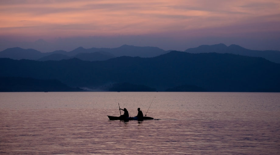 Kayak Fishin Morning Ocean