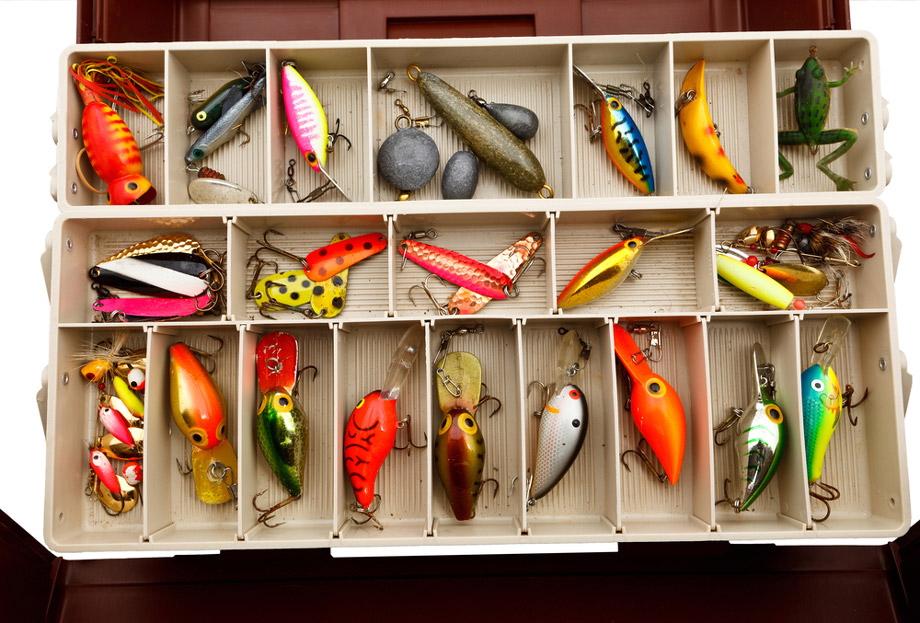 Fishing Lures In Tackle Box