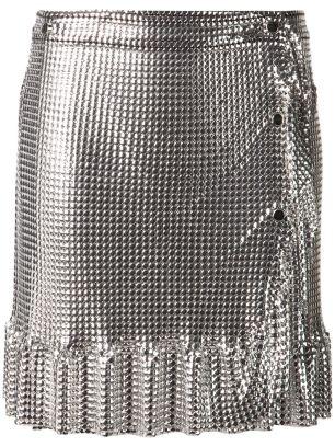 PACO RABANNEwrap metallic skirt