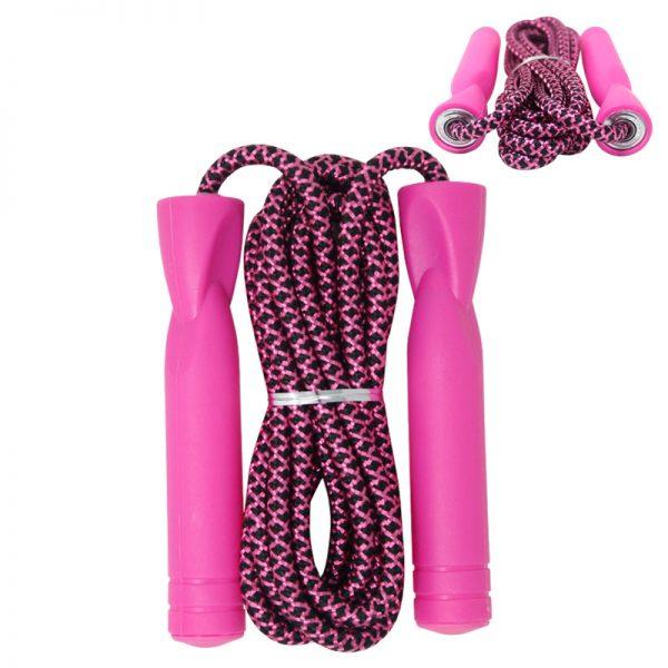 Cuerda de salto rosada