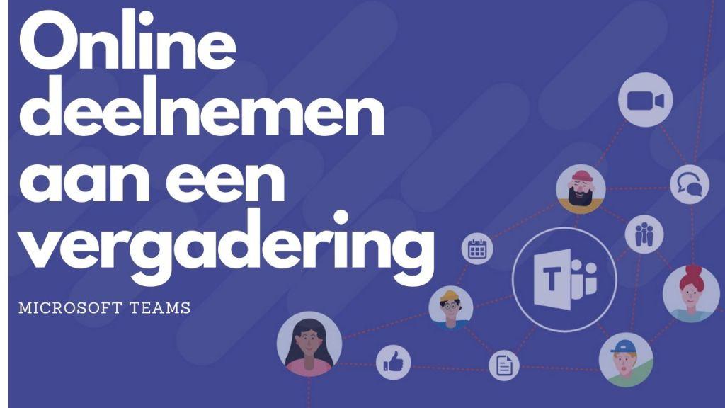 Online deelnemen aan een vergadering in MS Teams